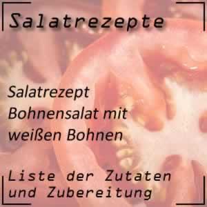 Bohnensalat mit weißen Bohnen