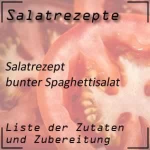Spaghettisalat, bunter