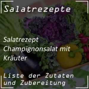Champignonsalat mit Kräuter