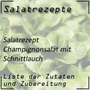 Champignonsalat mit Schnittlauch