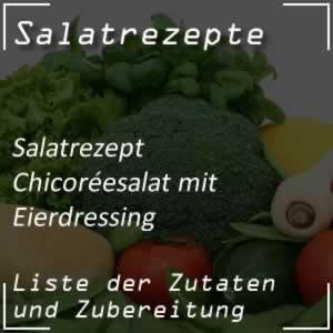 Chicoréesalat mit Eierdressing