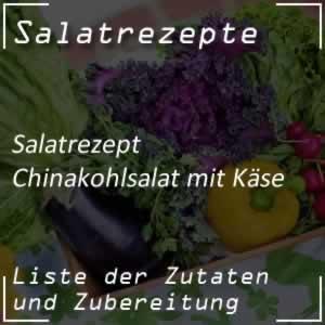 Chinakohlsalat mit Käse