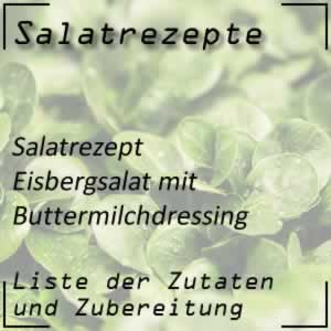 Eisbergsalat mit Buttermilchdressing