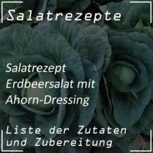 Erdbeersalat mit Ahorn-Dressing