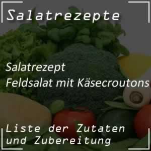 Feldsalat mit Käsecroutons