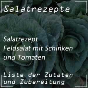 Feldsalat mit Schinken und Tomaten