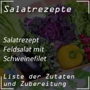 Schweinefilet auf Feldsalat