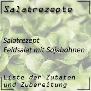 Feldsalat mit Sojabohnen