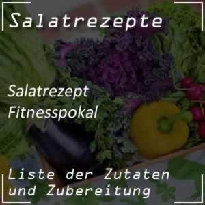 Fitnesspokal mit Apfel und Schinken