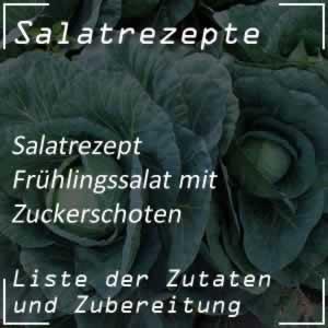 Frühlingssalat mit Zuckerschoten