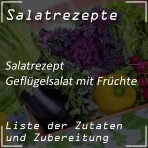 Geflügelsalat mit Früchte