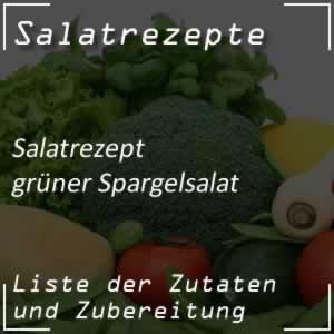 Spargelsalat, grün