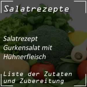 Gurkensalat mit Hühnerfleisch