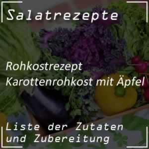 Karottenrohkost mit Äpfel