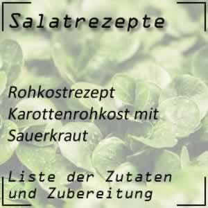 Karottenrohkost mit Sauerkraut