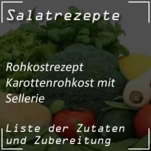 Karottenrohkost mit Sellerie