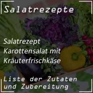Karottensalat mit Kräuterfrischkäse