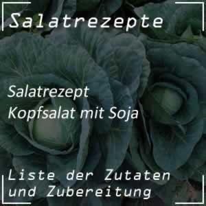 Kopfsalat mit Sojasprossen