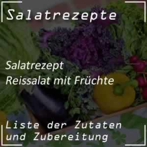 Reissalat mit Früchte