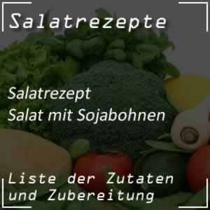Salat mit Sojabohnenkeimlinge