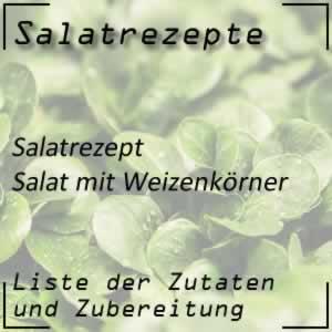 Salat mit Weizenkörner