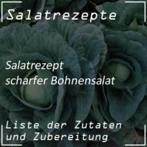 scharfer Bohnensalat
