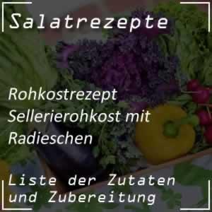 Sellerierohkost mit Radieschen