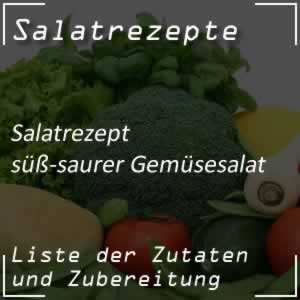 Gemüsesalat, süß-sauer