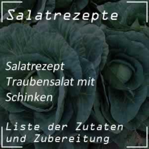 Traubensalat mit Schinken