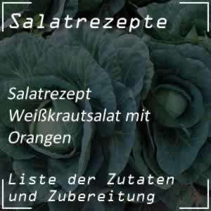 Weißkrautsalat mit Orangen