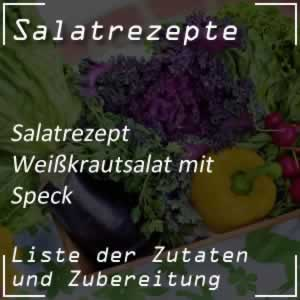 Weißkrautsalat mit Speck