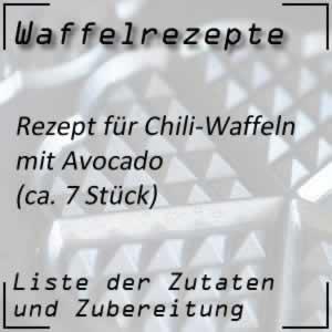 Chili-Waffeln mit Avocado-Dip