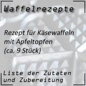 Waffelrezept für Käsewaffeln mit Apfeltopfen (Apfelquark)