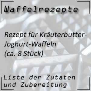 Waffelrezept Kräuterbutter Joghurt Waffeln