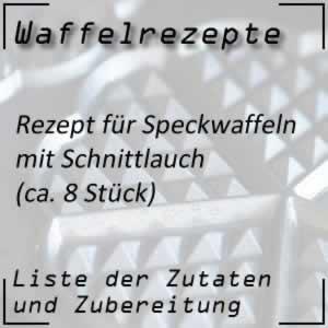Waffel Rezept Speckwaffeln mit Schnittlauchtopfen