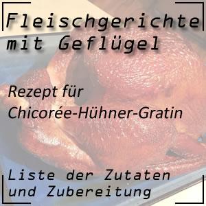 Kochrezept Chicorée-Hühner-Gratin