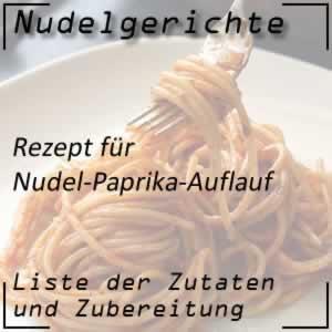 Nudel-Paprika-Auflauf