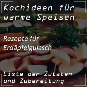 Kochrezept Erdäpfelgulasch oder Kartoffelgulasch