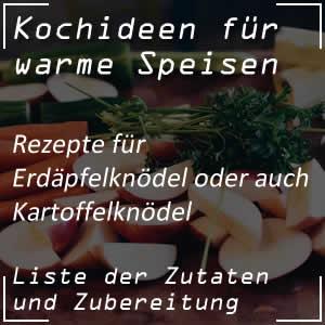 Kochrezept für Erdäpfelknödel oder Kartoffelknödel