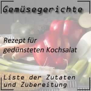 Gemüse Rezept gedünsteter Kochsalat