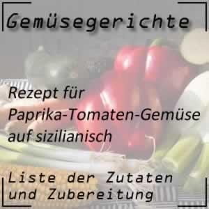 Gemüse Rezept Paprika-Tomaten-Gemüse peperonata alla romana