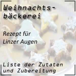 Weihnachtsbäckerei Rezept Linzer Augen