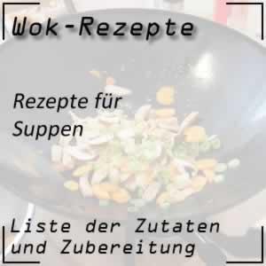 Suppen mit dem Wok