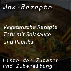 Tofu mit Sojasauce und Paprika zubereiten