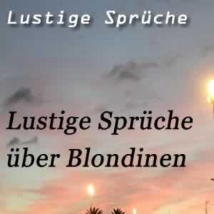 Blondinen Sprüche (2)