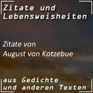 Zitate August von Kotzebue
