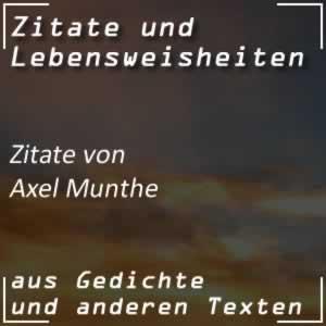 Zitate von Axel Munthe