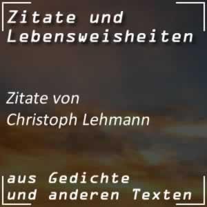 Zitate Christoph Lehmann Spr�che