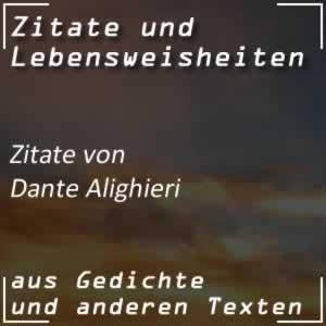 Zitate Dante Alighieri