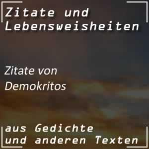 Zitate Demokritos (Karl Julius Weber)